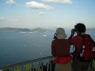 遊鶴亭で瀬戸内海を一望